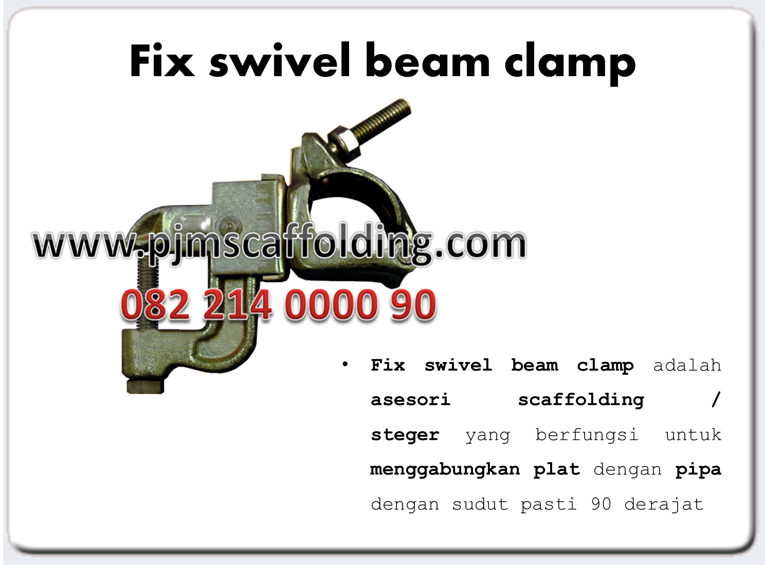 Fix Swivel BeamClamp